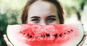 Wohlfühlen Melone Happy